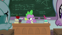 Spike shrugging with ignorance S8E21