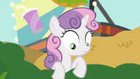 Sweetie seeing what's behind the bushes S4E15