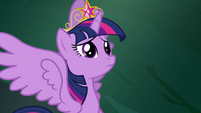Twilight listening to Celestia in her mind S4E02