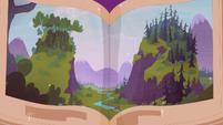 Book illustration of the Smokey Mountains S5E23