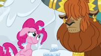 Pinkie Pie pretends to like snow cakes S7E11