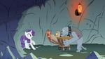 Rarity not wanting to wear the harness S1E19