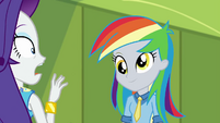 Rarity shocked by rainbow-haired Derpy EGDS12b