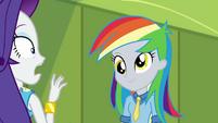 Rarity shocked by rainbow-haired Derpy EGDS12b