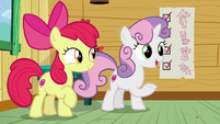 "Sweetie Belle ""it always works for Rarity"" S8E12"