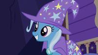 Trixie impressed by Sunburst's stage magic S7E24