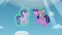 Twilight and Spike see another portal open S5E25
