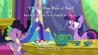 Twilight sees Spike about to eat a cookie S6E22