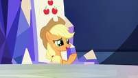"Applejack ""you don't sound so worried"" S9E14"