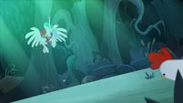 Celestia zooms up into the trees S9E13