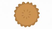 Pie on white background S7E23