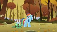 "Rainbow hears Sunshower saying ""Here comes the next shipment!"" S5E5"
