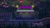 Rarity's RV driving past the festival grounds EGSBP
