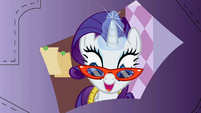 Rarity 'cutting out the pattern snip by snip' S1E14