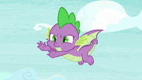 Spike flying with uneven balance S8E24