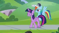 Twilight walks away from Rainbow Dash S9E15
