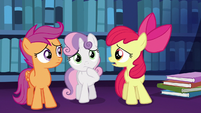 "Apple Bloom ""what the apples are we ever gonna tell her?"" S6E19"