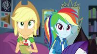Applejack and Rainbow look at Twilight's equation EGDS6