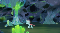 Ocellus exploring the catacombs S8E22