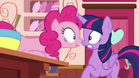 Pinkie --there were even more porter ponies!-- S6E22