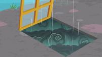 Rain falling upward in Discord's office S8E15
