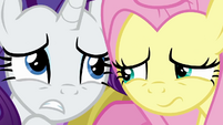 Rarity and Fluttershy trembling in fear BGES2