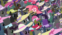 Rarity walks in the middle of the crowd S2E09