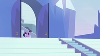 Twilight standing at entrance to stadium S3E12