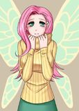 93945 safe fluttershy humanized breasts winged-humanization hootershy artist-apzzang.jpg
