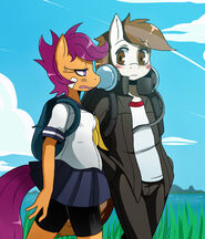 MLP Scootaloo and Pipsqueak by ss2sonic