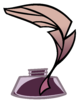 Inkwell with quill