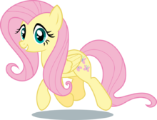 Fluttershy Trotting, Staring at You.png