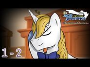 PW-AA x MLP-FIM - Elements of Justice ~ Turnabout Theatre (Case 1) -Part 2-3-