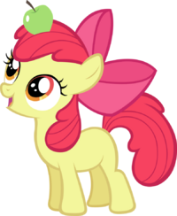 Apple Bloom with an Apple.png