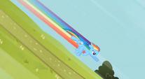 Rainbow diving down a hill S2E8