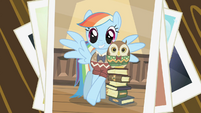 Picture of Rainbow Dash with the owl S2E07