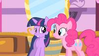 Twilight and Pinkie Pie nervous S1E20