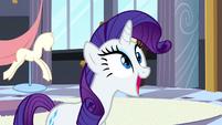 Rarity thanking Princess Celestia S2E9