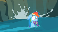 Rainbow Dash with fish S2E8
