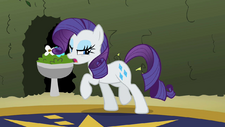 Rarity dragging herself away from the gems S2E01.png
