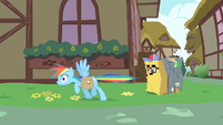 Rainbow Dash realizes she greeted Pinkie S1E25