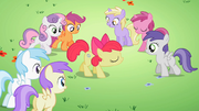 Students gathering around Apple Bloom S2E06.png