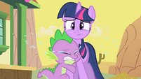 Spike Crying On Twilight S1E21
