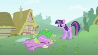 Twilight tells Spike he has to focus S1E15