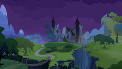 Castle of the Two Sisters at nighttime S04E03.png