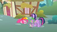 Twilight and Spike observe Pinkie S1E15