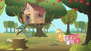Applejack shows the CMC their new tree house S1E18.png