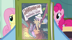 Rainbow Dash holding Daring Do book S2E16.png
