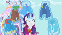 Rarity showing off happiness S2E10