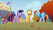 Rainbow Dash & Applejack surprised S1E13.png
